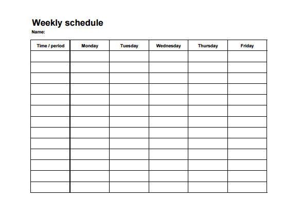 weekly employee shift schedule template excel